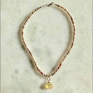 Freshwater Pearl & Stone Necklace